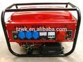 2kw triphasé, le ce a approuvé, économique, moteur honda, démarrage électrique avec batterie, utilisation à la maison, faible bruit, générateur de dynamo