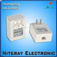 Powerline communication plc modem in wireless networking equipment
