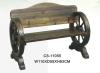 wooden wheel bench