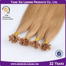 2014 Ali express Fusion wholesale brazilian 100% human u tip pre bonded hair