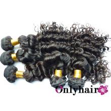 100% virgin human hair deep wave/curly hair,unprocessd soft hair,thick,no dry,no lice,no split ends