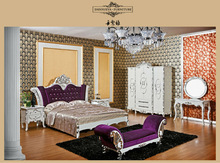 luxurious solid wood antique bed modern furniture bedroom from danxueya factory
