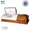simples cremação caixões de madeira com acessórios