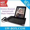With Skype Telephone Wireless Bluetooth Keyboard for iPad iPhone