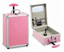 elegant trolley Aluminum cosmetic case beauty case makeup hard case CS19
