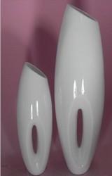 2014 SJ FP13 Wholesale fiberglass flower pot for wedding decor fake white flowerpot MgO flower big vase artificial flower pot