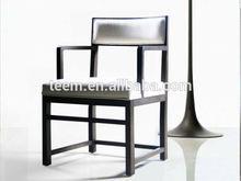 wood armrest dinner chair italian leather dining chair