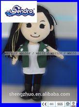 plush aircraft female pilots Cool doll actress of TVB serise