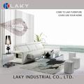 Lk-rs102 chaise+3 seaters cor branca recliner sofá elétrica l sahpe com fezes