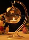 tear drop glass candle holder