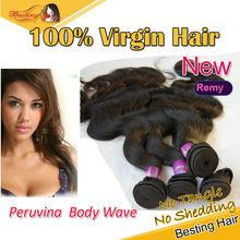 "Guangzhou Peruvian100% Remy human hair extension 8""-40""inch in stock DHL"