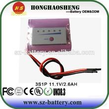 11.1v 3100m ah li-ion mobile phones batteries pack