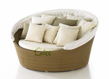 good quality furniture for heavy people + rattan round sofa bed + outdoor furniture for sale