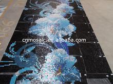 flower pattern mosaic mural art for swimming pool