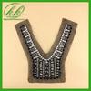 Garment accessories handmade beaded neckline applique,neck collar for dress
