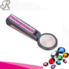 Bling crystallized plastic mini portable LED light tweezer with 10x magnifier