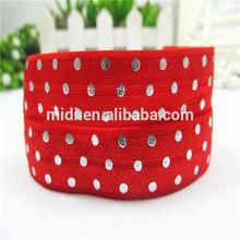 Hot red satin elastic ribbon
