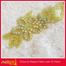 Bridal Applique/wedding belt applique ships in 2 weeks Silver Patch Beaded 2012 fashion hair chain jewelry