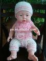 Bricolaje la proposición del recién nacido setled tapa gorro de punto, bebé suéter de diseño de punto a mano, el diseño de la mano de pantalones de punto de uso del recién nacido