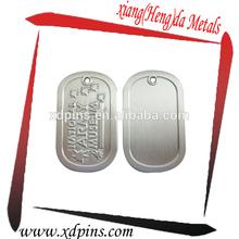 embossed metal oval dog tag