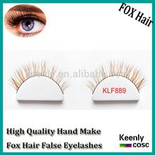 New Arrival! Silk false lashes extension, real fox hair fake lash make up,handmake strip eyelashes for beauty(Premium fox fur)