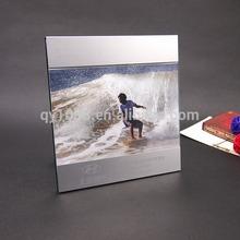 silver aluminum glass photo frame , photo frame album