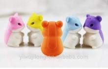 2014 popular 3D animal shape eraser cute erasers pretty erasers