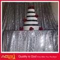 venta al por mayor de poliéster bordado de la boda metálico de alta calidad de lujo de lujo baratos de tenis de mesa al aire libre