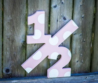 2014 hot sell Large Wooden 12 inch Numbers made in China