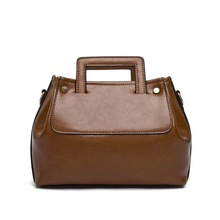 bgt6317 wholesale brown office genuine leather lady hand bag for women