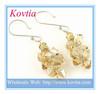 HOT SALE citrine crystal jewellery fashion silver dangle earring italian costume jewelry