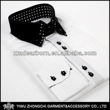 Long sleeve white classic shirt for men