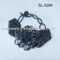 Flower Bracelet,black bracelet,fashion jewelry