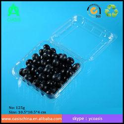 strawberries punnet boxes/ eco friendly disposable plastic PET container
