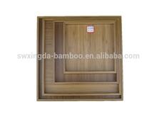 New design 4pcs bamboo storage tray set