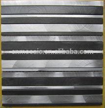 ALM146 long stripe brushed aluminium metal mosaic tile