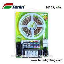 5M SMD 5050 rgb led strip Waterproof Strip light 300 LED + 44 Key IR Remote + 12V 5A power