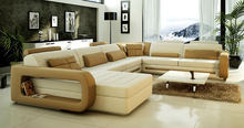 W16 Modern expensive genuine leather sofa buy 1 for 2/leather Sofa free shipping