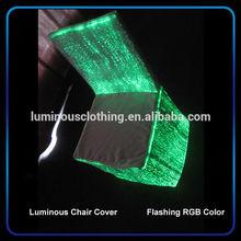 Fashion led luminous chair covers custom wholesale wedding banquet hall chair cover and organza sash china
