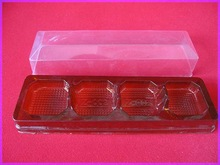4 Count mini muffin plastic tray with lid