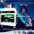 Machine graveur laser pour des images de cristal cadeaux store, électrique numérique 2d 3d cristal laser machine de gravure pour la vente