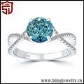 nivel superior innovador anillo de diamante caramelo