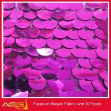 Caliente de la venta superior 100 del diseño 100% del brillo de poliéster elegante tela de lentejuelas vestidos bordado de cambray