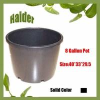 Hot 8 Gallon Black Plastic Flower Pot Dish