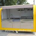 2014 nova condição yiying yy- fs290a varejo personalizado crepe carrinho feito de madeira carrinho de sorvete design 3d max projetado cachorro quente do carro