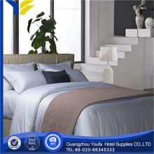 grey wholesale plain 100% cotton bleached white 1cm stripe bed sheet