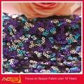 A venda quente superior 100 design 100% poliéster fantasia glamourosa tecido de paetês bronze de vestidos de noite