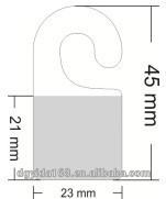 plastic hang tab with J hook