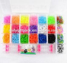 Popular good quality of loom bands kit plastic box