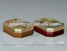 vintage design octangular cookie tin box/ cookie tin can